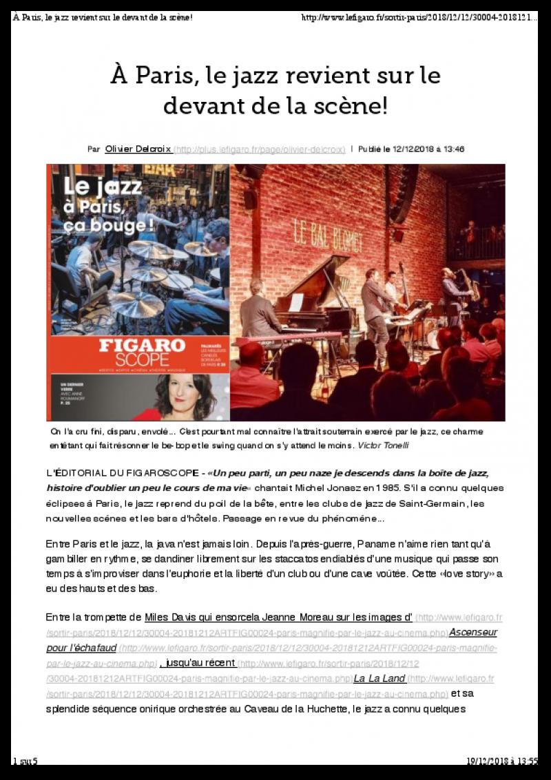 Le Figaro (12 décembre 2018)