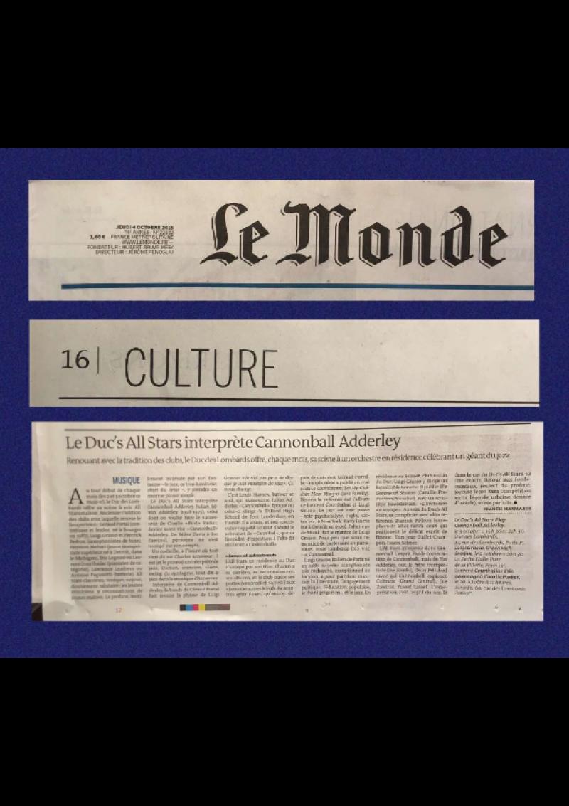 Le Monde (4 octobre 2019)