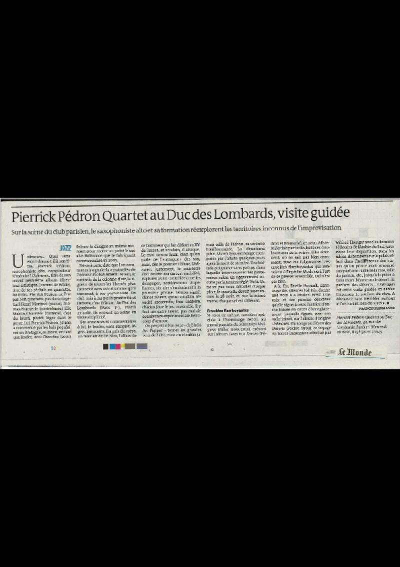 Le Monde (Août 2019)